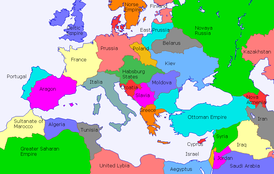 Map Names Borders Without Or European Country
