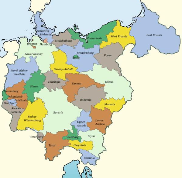 GroßDeutschland map Alternate History Discussion