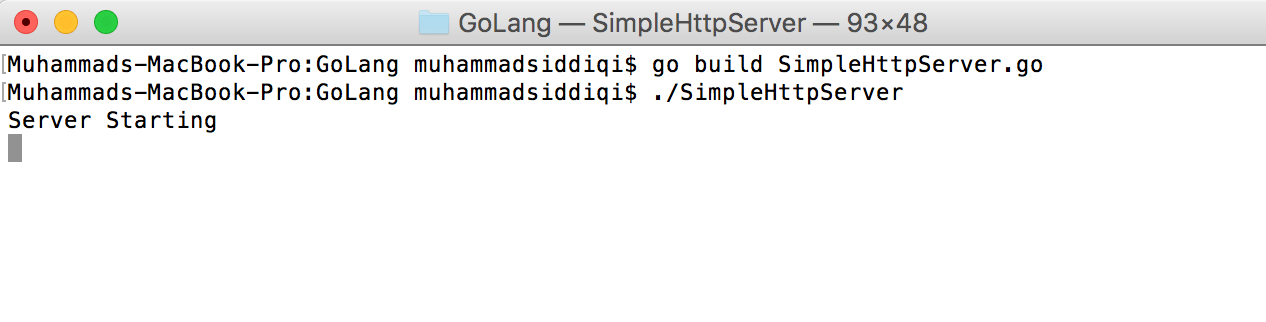 Simple Http Server with Templated Response in Go – Alternate