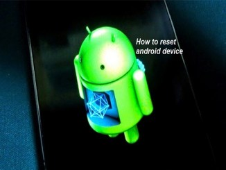 reset hp android