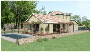 Maison avec extérieur piscine