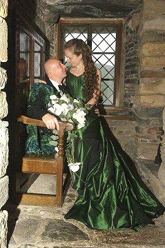 Rossetti 19th Century Corseted Silk Taffeta Wedding Gown