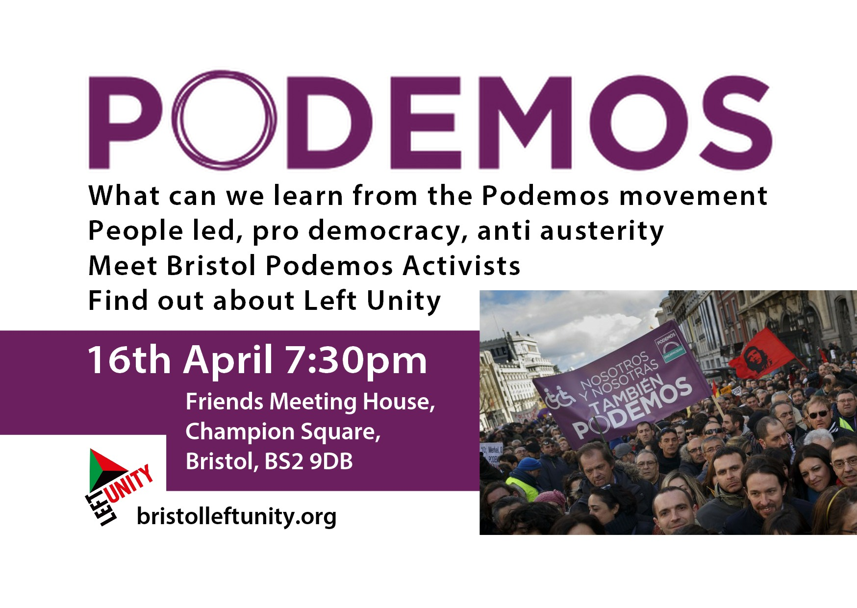 Left unity presents: Podemos, what can we learn from Spain's newest social movement