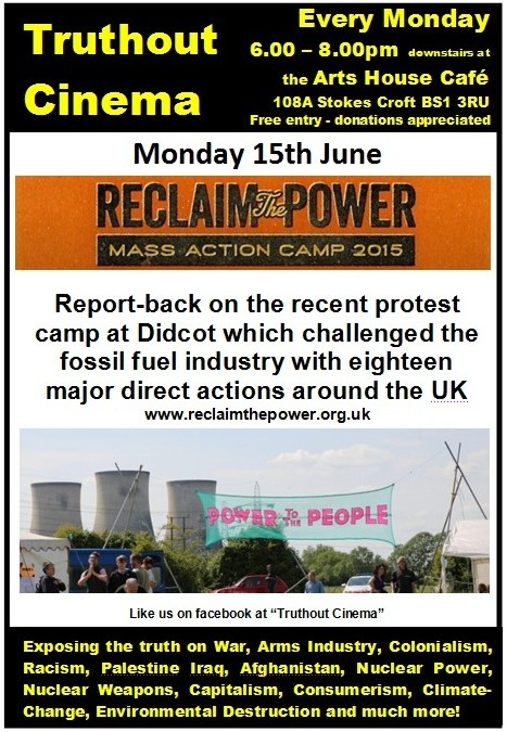 Monday 15th June – Truthout Cinema: Reclaim The Power