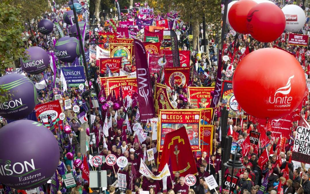 PROTEST AGAINST THE TRADE UNION BILL