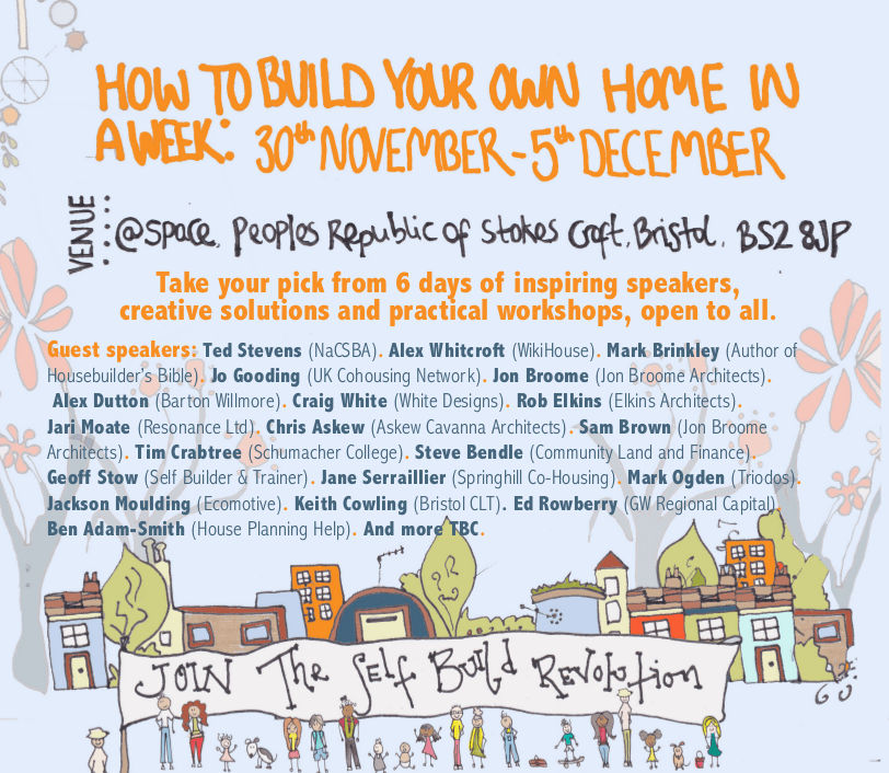 How To Build Your Own Home In A Week 30th November – 5th December