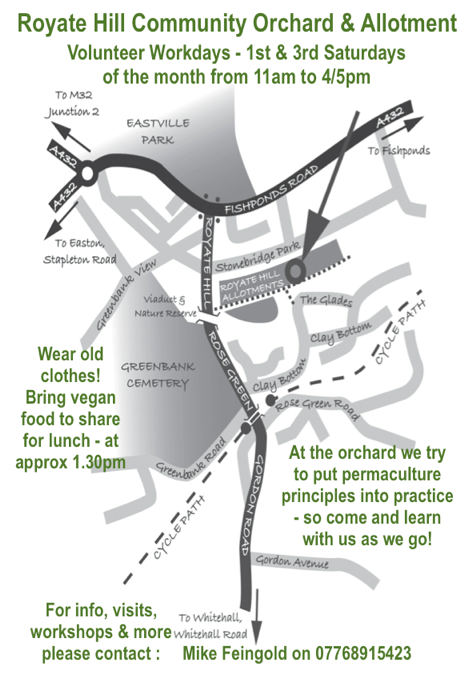 Workday at Royate Hill community orchard & allotment