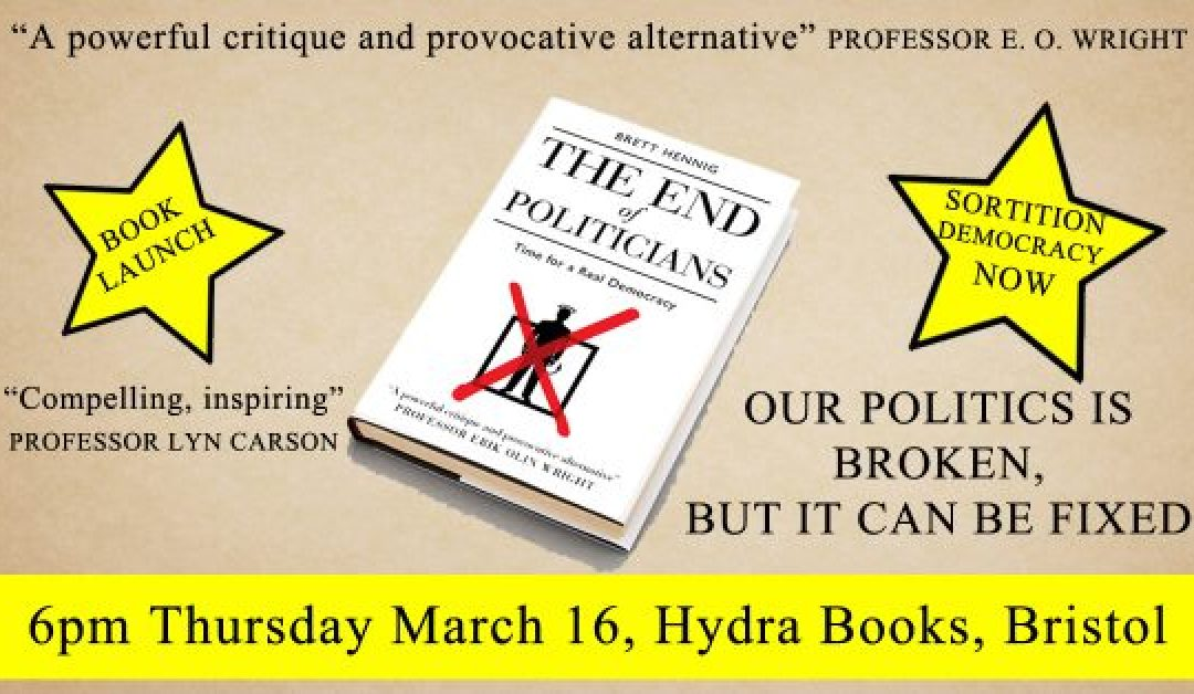 The End of Politicians: Time for a Real Democracy (book launch)