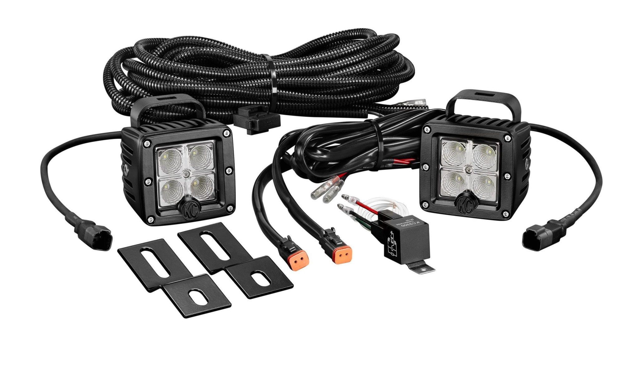 hight resolution of home lighting rear lights kc hilites 519 c series c2 led pair backup flood system clear