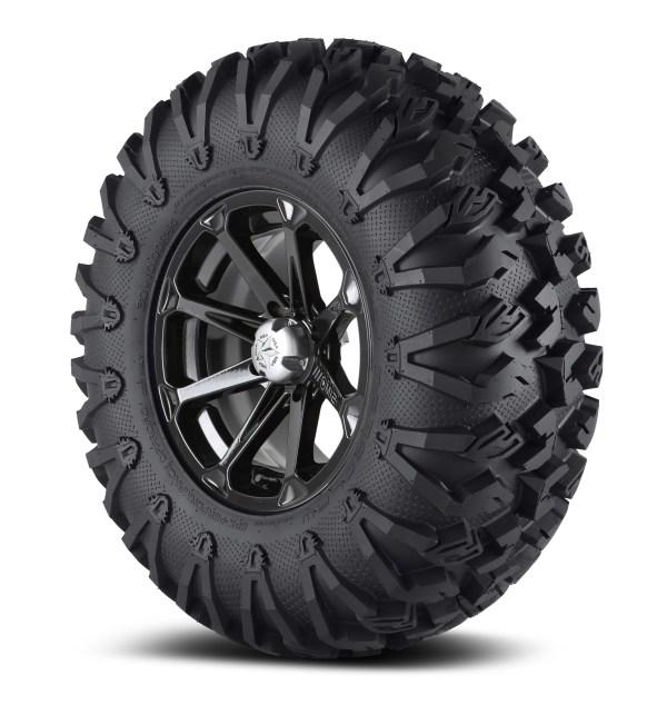 """Msa 18x7 M12 Diesel Wheel And Efx 33"""" Moto Claw Tire Dark"""