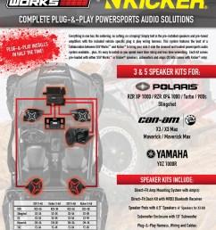 ssv works polaris rzr xp1000 turbo plug and play complete 3 speaker kicker stereo kit [ 1256 x 1650 Pixel ]