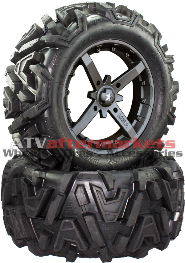 "Msa 18x7 M23 Battle Wheel And Efx 32"" Moto Mtc Tire Kit"