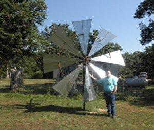 Calvin Allen with Ground Wind Turbine