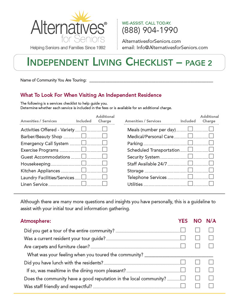 Independent Adult Living