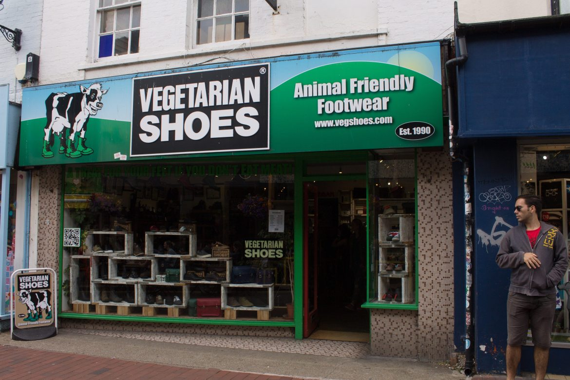 Vegetarian Shoes: one of the vegan shops in Brighton, UK