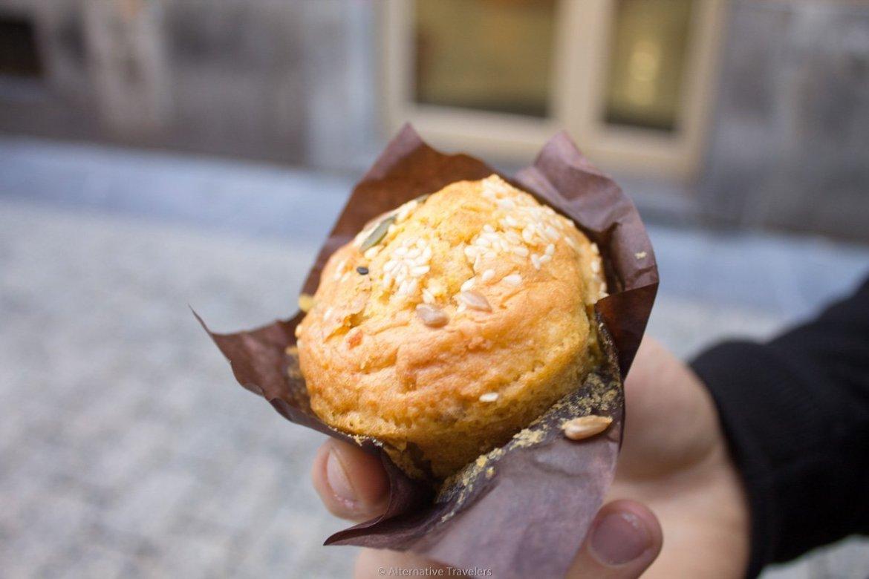 vegan madeleine at Maiatza in San Sebastian, Spain