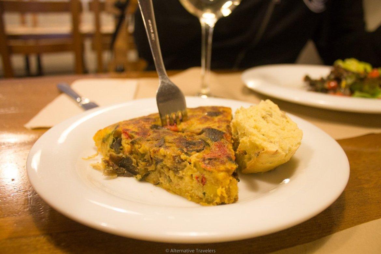 vegan tortilla at Km.0, San Sebastian, Spain