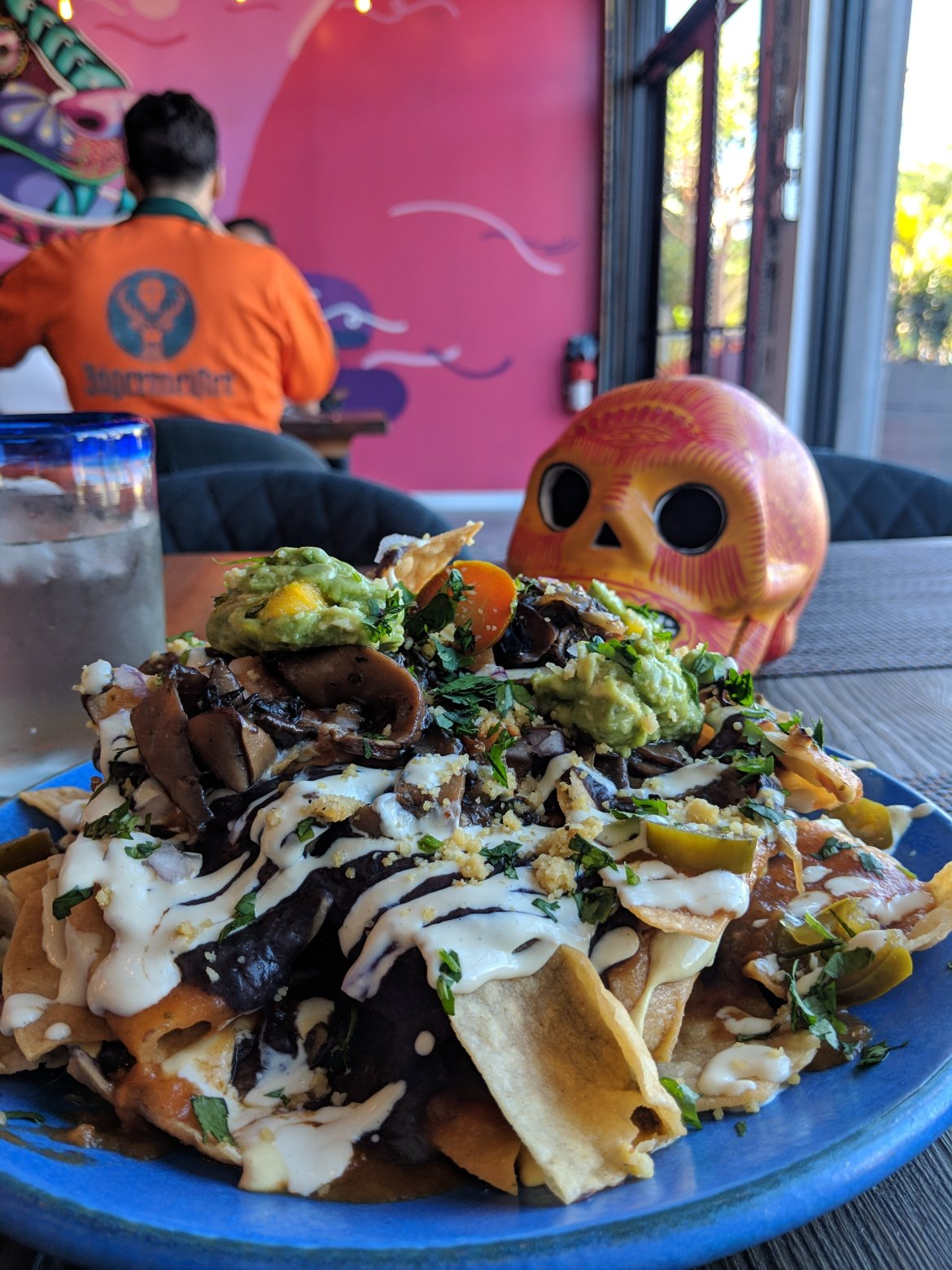 Vegan nachos at Charly's Vegan Tacos in Miami, Florida