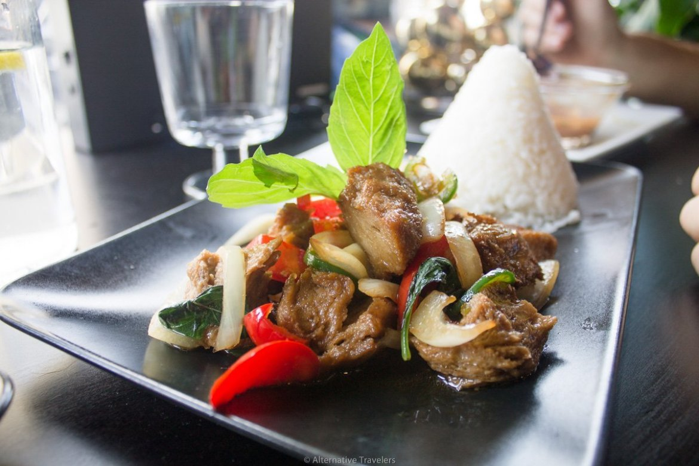 Koh Tor Mor, a vegan restaurant  near downtown Brooklyn