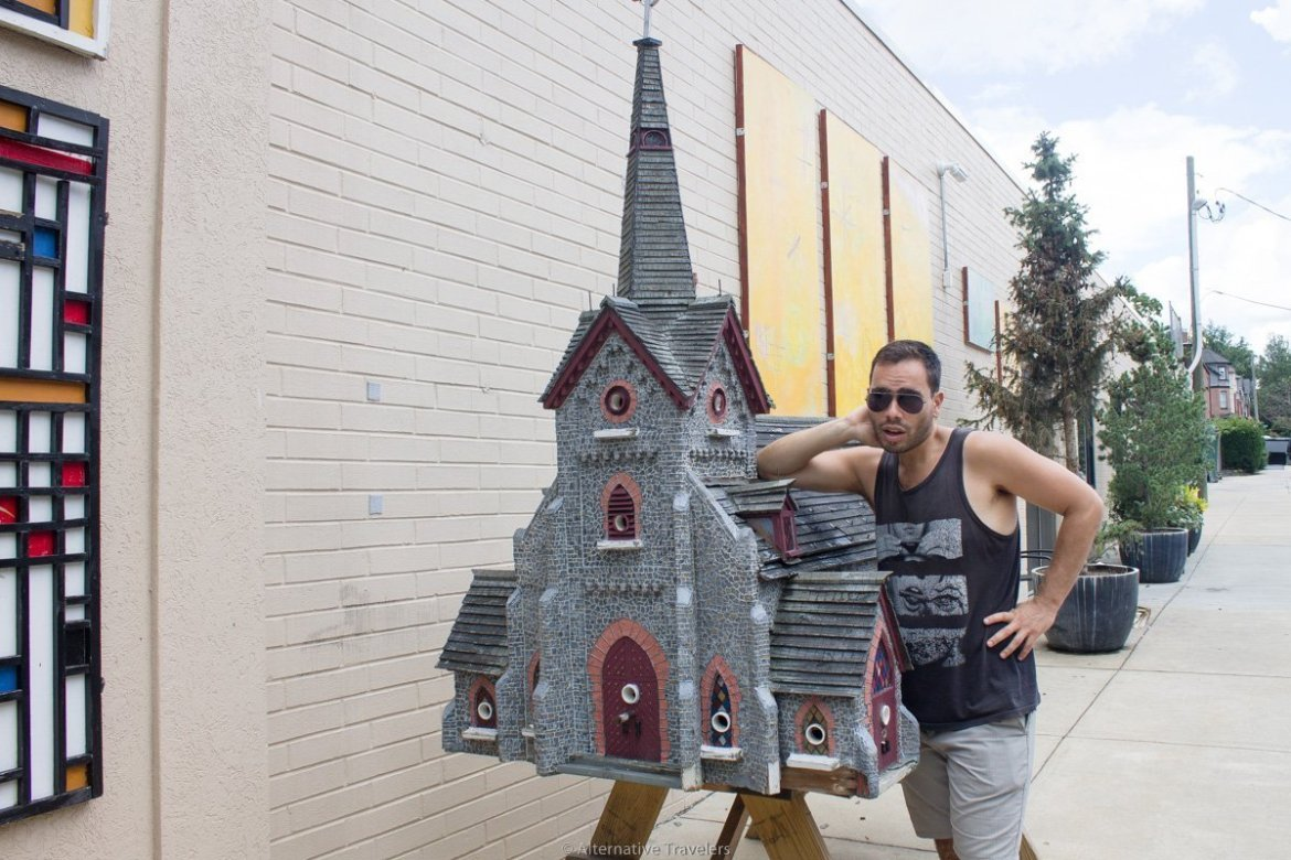 Church spaced birdhouse