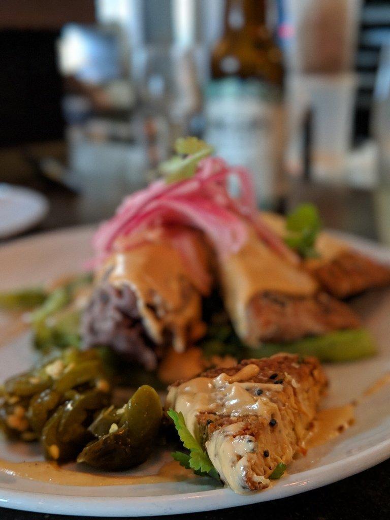 vegan meal at Plant restaurant