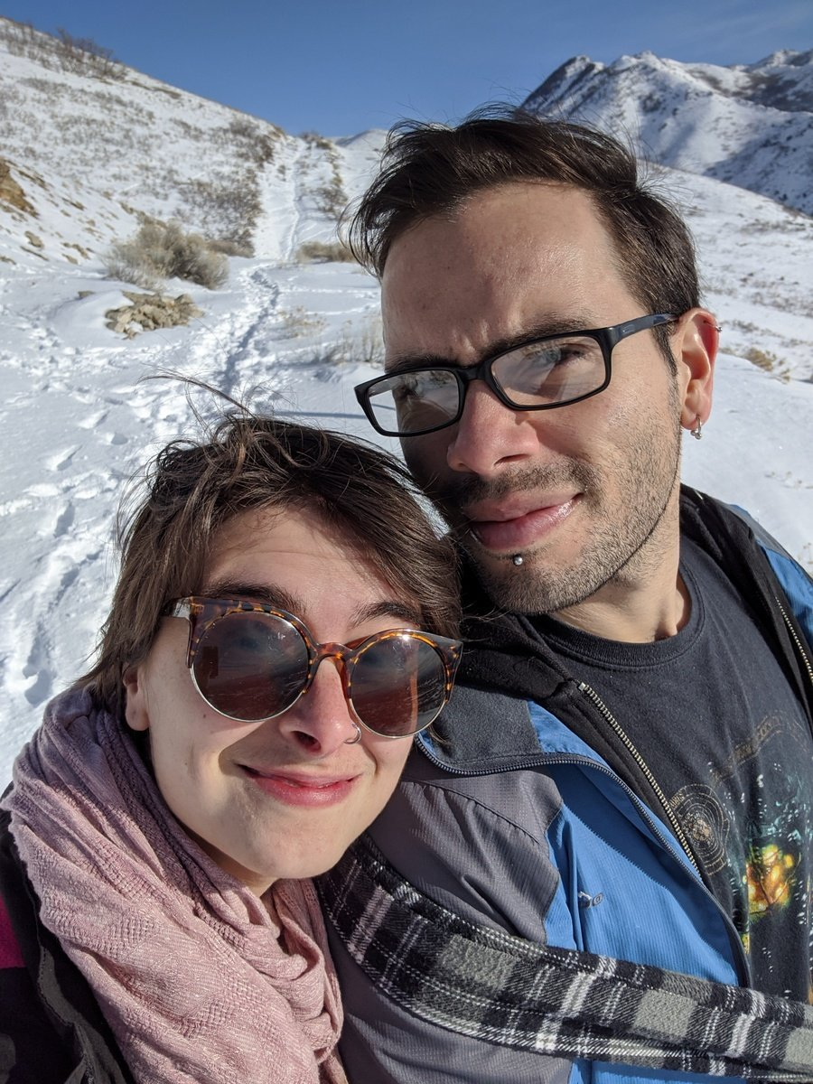 couple selfie on a mountain