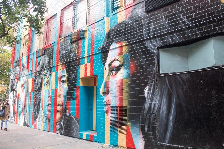 Amy Winehouse mural in Lower East Side