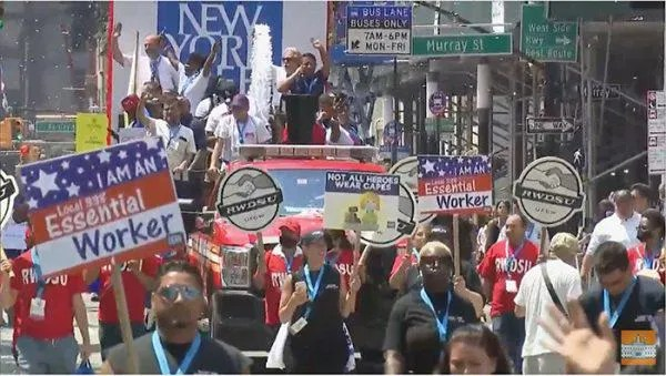 New York throws a parade -- and essential workers say 'Fuhgettaboutit!'