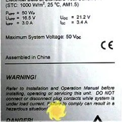 Solar Panel Array Wiring Diagram 2007 Honda Civic Car Stereo Electrical Characteristics Of Panels Pv Modules Alte