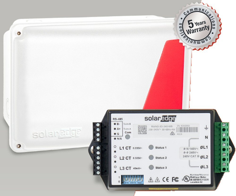 hight resolution of solaredge electricity meter without current transformers