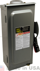 SquareD HU361RB 600V DC 30 Amp 3Pole Disconnect Switch | altE
