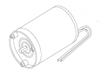 Shurflo Replacement Motor Kit for 9300 Series Pumps, 24V