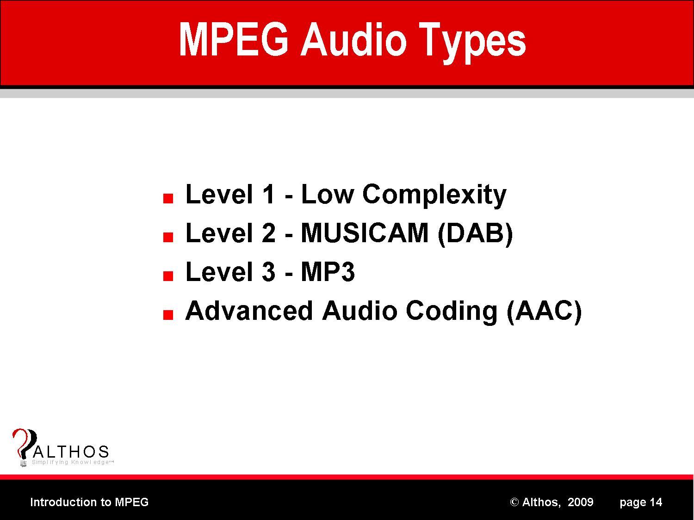 MPEG Audio Layers