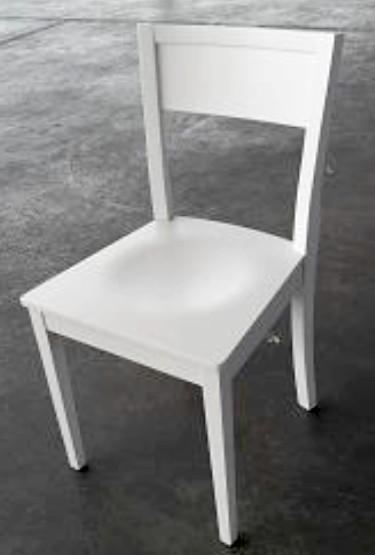 sedia frassino occasione nuova fallimenti verniciata bianca