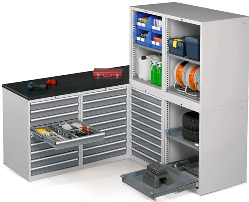 banconi magazzino cassettiere portautensili ferramenta
