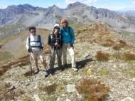 Gabrielle, Nicole et Noëlle sur le Pel Brun