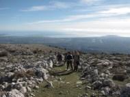 Club de randonnée 06, Altiplus; 27 novembre 2016 : le Pic de Courmettes et le Puy de Tourrettes, avant d'arriver au Pic de Courmettes