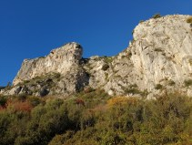 ALTI+ Club Randonne dans le 06 - Le Mont Bastide (rando écolo) 18/12/2016, les falaises a la descente