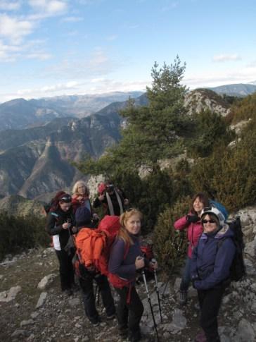 Club Randonnée dans le 06, Altiplus, 4 décembre 2016 : Le Brec d'Utelle, a la descente du Sommet