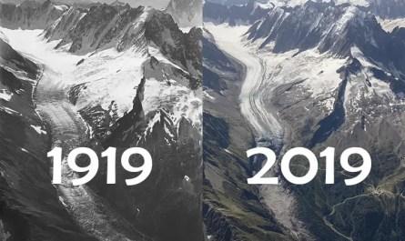 glaciers du mont blanc