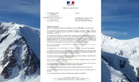 Arrêté de Protection du Mont Blanc