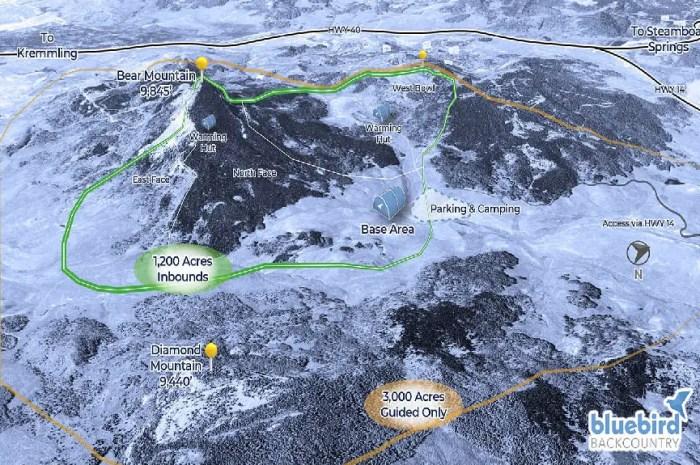 Une nouvelle station de ski sans remontées mécaniques !