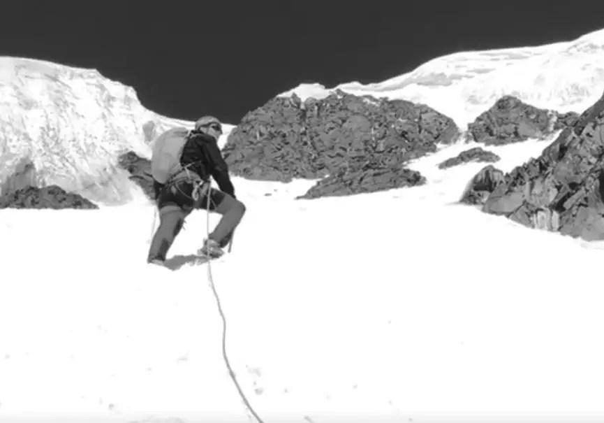 alpiniste sur dih sar