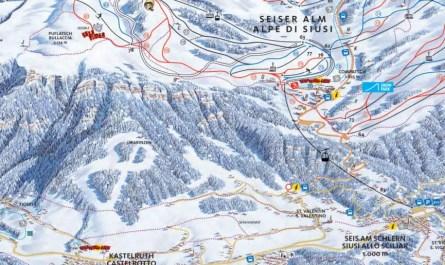 Plan des pistes Alpe de Siusi