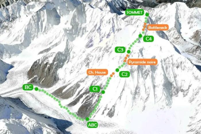 Parcourez la voie normale d'ascension du K2 : l'Eperon des Abruzzes
