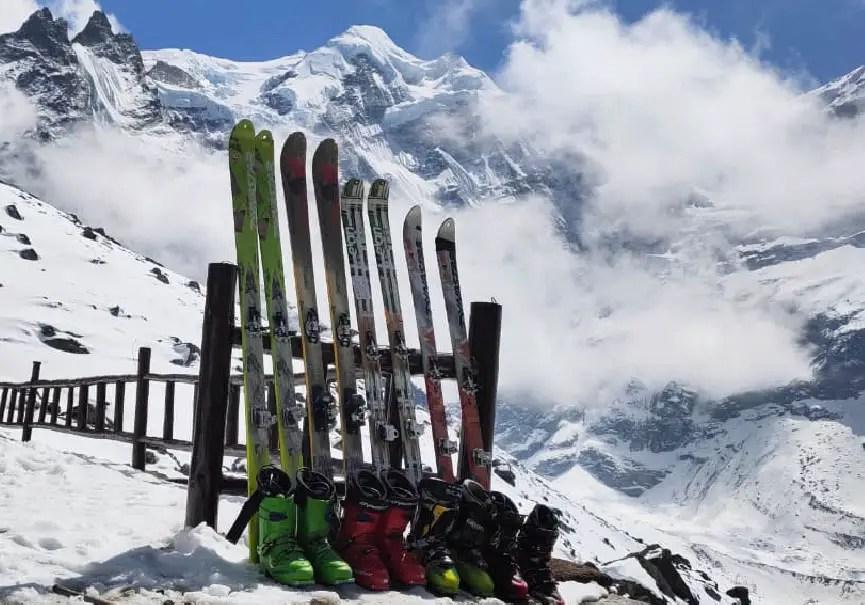 location skis Mera peak