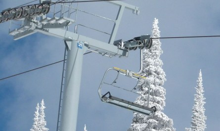 Télésiège station de ski