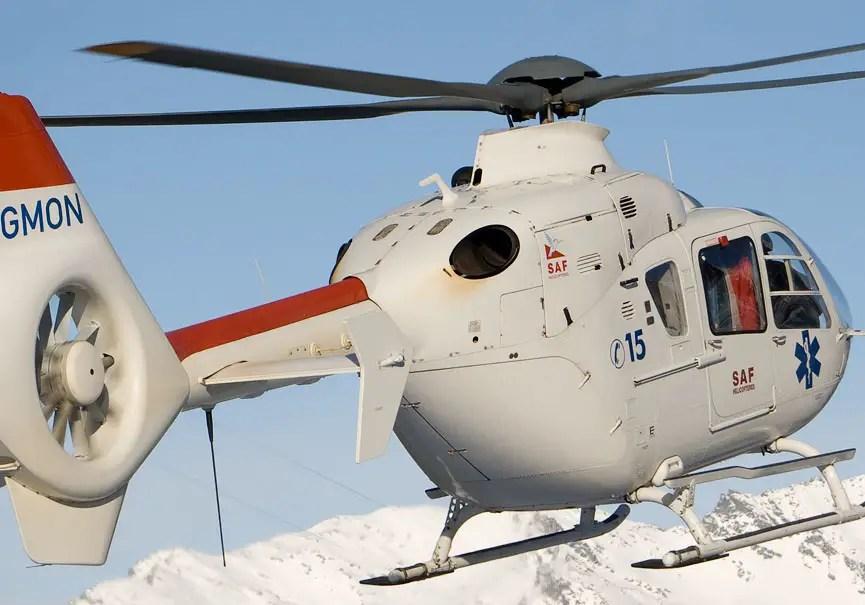 hélicoptère EC 135 SAF