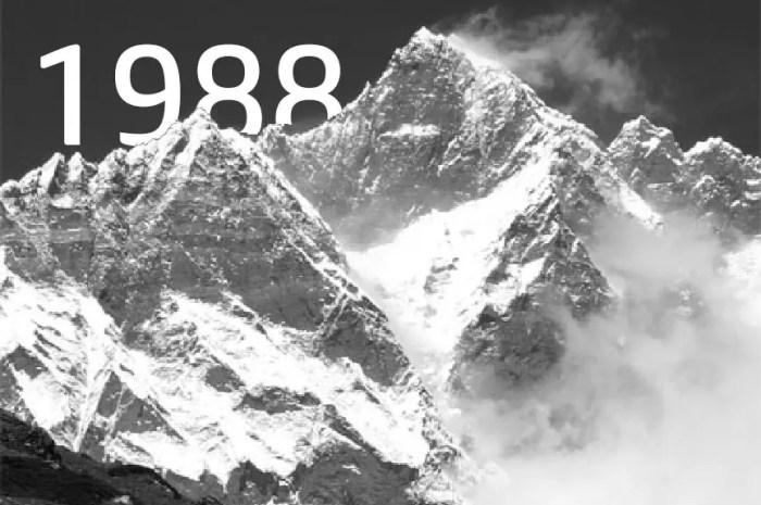 Le 31 décembre 1988 : la première hivernale du Lhotse, 8.516m !