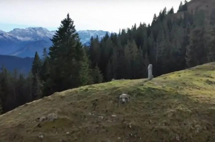 Mystère du pénis géant disparu au sommet du Mont Grünten, simple coup de pub ?